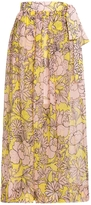 MSGM Chiffon Print Skirt