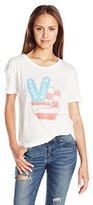 Goodie Two Sleeves Juniors Peace Love Americana Graphic Tee