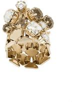 Lanvin crystal-embellished ring