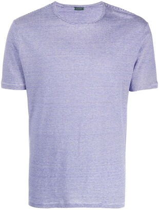 Zanone striped fitted T-shirt