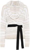 Brunello Cucinelli Sequined cotton blend cardigan