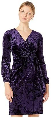 Lauren Ralph Lauren Empress Panne Velvet Joni Long Sleeve Day Dress