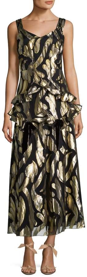Anna Sui Women's Metallic Midi Dress