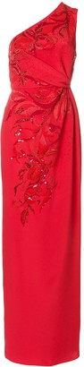 Emilio Pucci Sequin-Embellished Gathered Dress