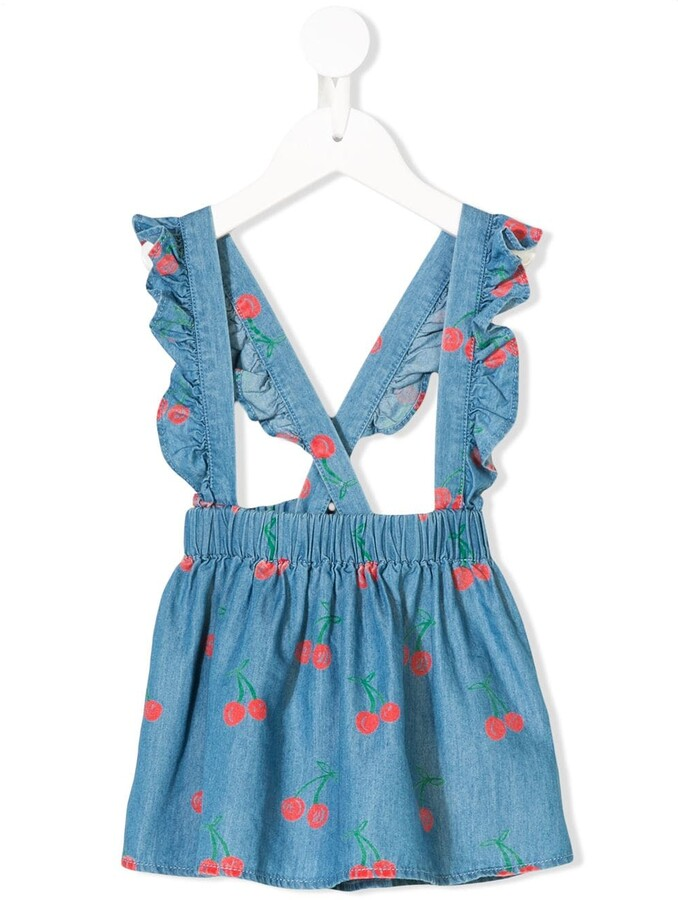 Stella McCartney cherry print dungaree dress