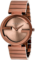 Gucci Interlocking YA133211 Men's Chocolate Stainless Steel Watch