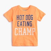 "J.Crew Boys' glow-in-the-dark ""hot dog eating champ"" T-shirt"