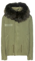 Mr & Mrs Italy Fur-trimmed cotton parka