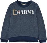 GUESS Fleece and lurex sweatshirt