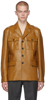 Prada Tan Leather Field Jacket