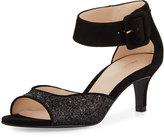 Pelle Moda Berlin2 Glittered Kitten-Heel Sandal