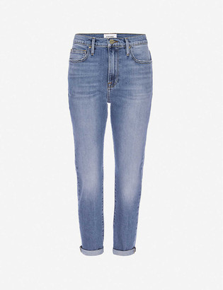Frame Le Garcon straight mid-rise stretch-denim jeans