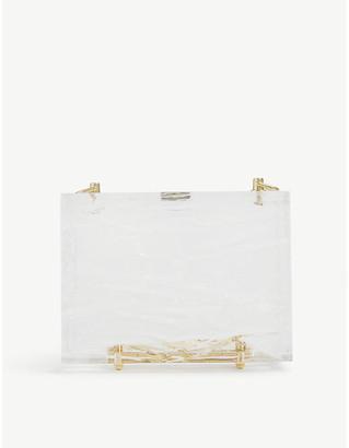 L'Afshar Crushed-ice acrylic cube shoulder bag