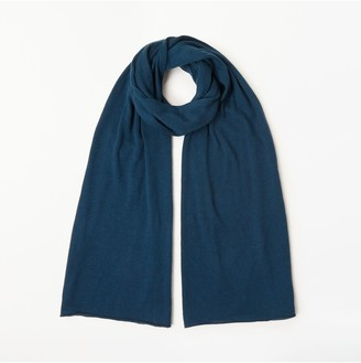 John Lewis & Partners Plain Knitted Jersey Scarf