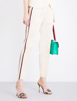 Gucci Cropped satin trousers