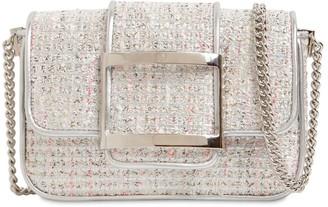 Roger Vivier Micro Trevivier Tweed Shoulder Bag