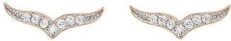 ginette_ny Diamond Wise Stud Earrings