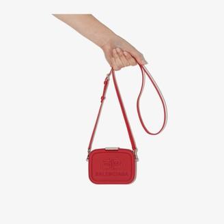 Balenciaga Red Logo Lunch Box Mini Bag