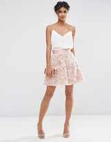 Asos Mini Prom Skirt with Rose Corsage