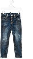 DSQUARED2 distressed stonewashed jeans - kids - Cotton/Spandex/Elastane - 4 yrs