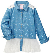 Design History Star Chambray Top (Toddler & Little Girls)