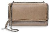 Stella McCartney Faux Leather Flap Shoulder Bag - Metallic
