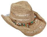 Scala Women's LR694 Crocheted Pinch Cowboy Hat with Charm