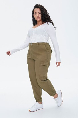 Forever 21 Plus Size Ankle-Cut Cargo Pants