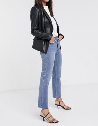 Only Aspen high waisted straight leg jeans