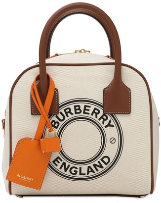 Burberry Small Cube Printed Canvas Bag