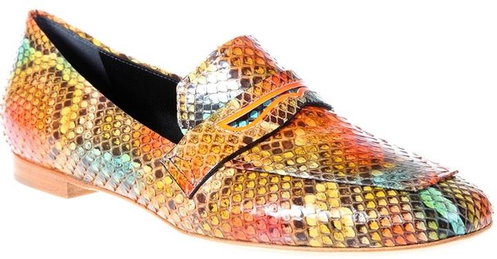 Rupert Sanderson python print 'Alma' loafer