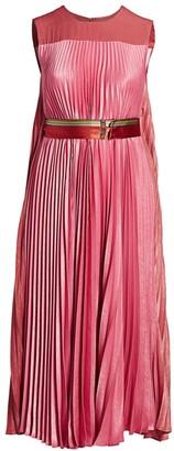 Dorina Satin Pleated Maxi Dress