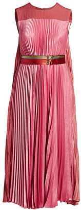 Marina Rinaldi, Plus Size Dorina Satin Pleated Maxi Dress