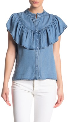Velvet Heart Vix Short Sleeve Front Popover Top