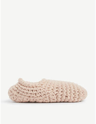 Eberjey Fleece-lined knitted slipper socks