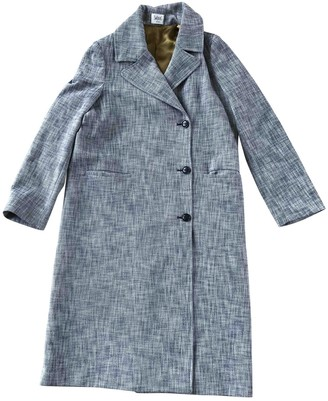 Swildens Blue Cotton Coat for Women