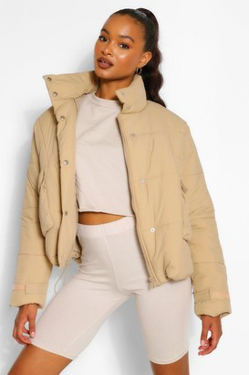 boohoo Tall Padded Oversized Cropped Puffer