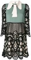 Chloé colour block lace dress