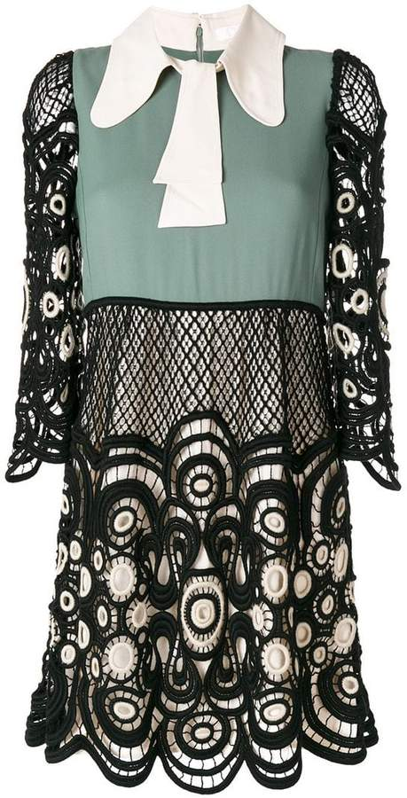 Chloé colour block lace dress