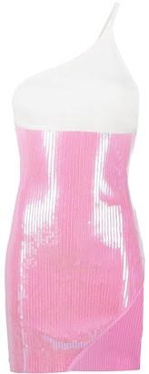 David Koma One-Shoulder Sequin Dress