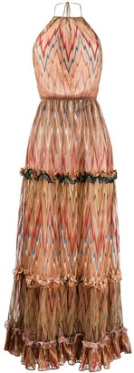 Missoni Halter Neck Ruffled Silk Dress