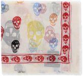 Alexander McQueen Multicolor Skull Scarf