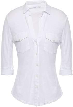 James Perse Slub Supima Cotton-jersey Shirt