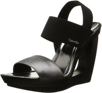 Calvin Klein Womens Yelena Sandals Black Size: 3.5