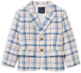 Janie and Jack Baby's, Little Boy's & Boy's Linen-Blend Plaid Jacket