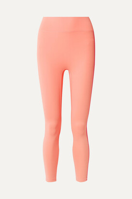 All Access - Center Stage Cropped Stretch Leggings - Peach