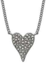 INC International Concepts Silver-Tone Pavandeacute; Heart Pendant Necklace, Created for Macy's