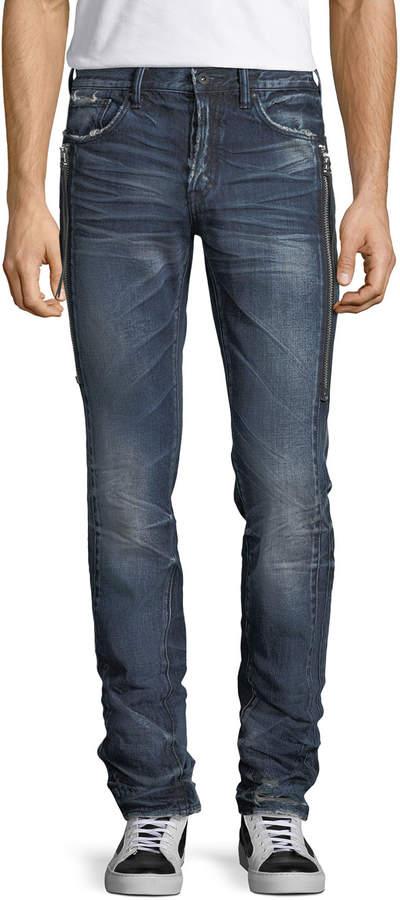 03d11614 Le Sabre Side-Zip Tapered Jeans
