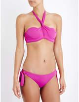 Seafolly Wrap-front bandeau bikini top