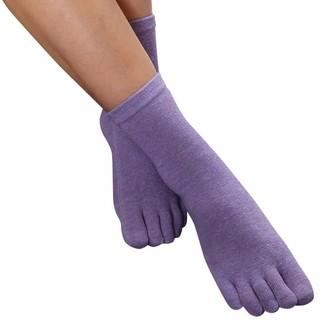 Goosun Socks Women Girl's Pilates Toe Socks Cotton Five Finger Toe Socks Cotton Rich Liner Ankle Sock Print Multicolor Toe Socks Goosun novelty socks low cut socks loose top socks